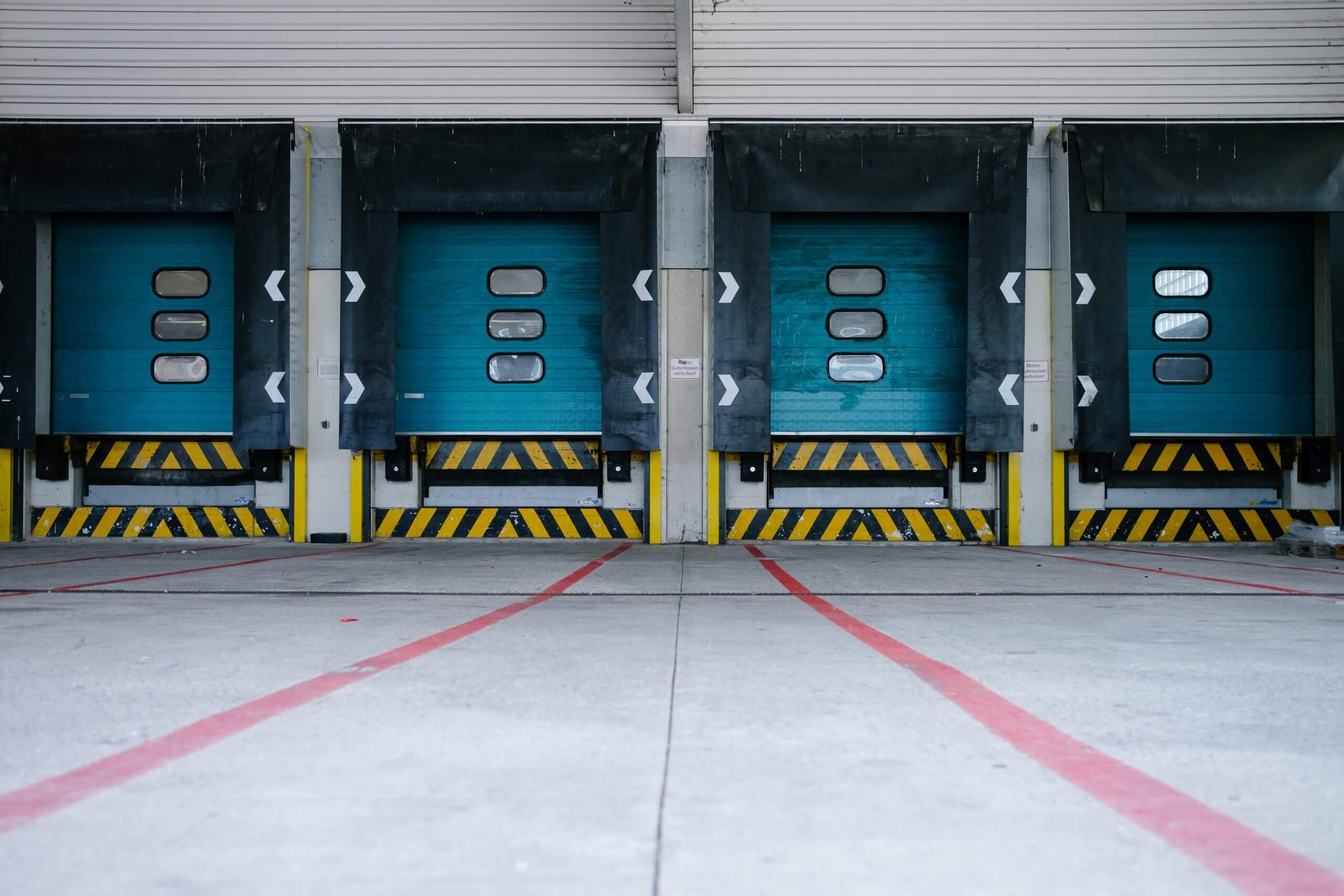 Colorful cargo doors